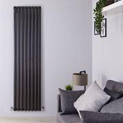 Radiateur Design Vertical Noir Vitality 178cm x 47.2cm x 7,8cm 1868 Watts