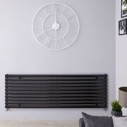 Radiateur Design Horizontal Noir Vitality 59cm x 178cm x 5,5cm 1476 Watts