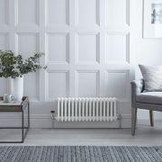 Radiateur Horizontal Style Fonte Blanc Windsor 30cm x 78,5cm x 10cm 687 Watts