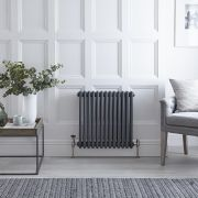 Radiateur Horizontal Style Fonte Anthracite Windsor 60cm x 60.5cm x 10cm 1060 Watts