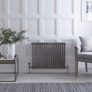 Radiateur Horizontal Style Fonte Acier Brut Windsor 60cm x 78.9cm x 10cm 1243 Watts