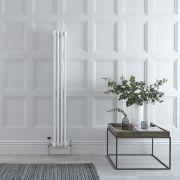 Radiateur Vertical Style Fonte Blanc Windsor 150cm x 20cm x 10cm 694 Watts