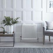 Radiateur Horizontal Style Fonte Blanc Windsor 60cm x 60,5cm x 6,8cm 738 Watts