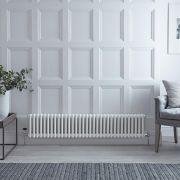 Radiateur Horizontal Style Fonte Blanc Windsor 30cm x 150,5cm x 6,8cm 1050 Watts