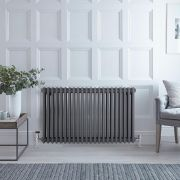 Radiateur Horizontal Style Fonte Anthracite Windsor 60cm x 101cm x 10cm 1794 Watts