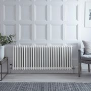 Radiateur Horizontal Style Fonte Blanc Windsor 60cm x 150,5cm x 10cm 2412 Watts