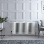 Radiateur Horizontal Style Fonte Blanc Windsor 60cm x 119cm x 13,3cm 2467 Watts