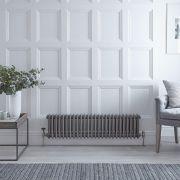 Radiateur Horizontal Style Fonte Acier Brut Windsor 30cm x 119,3cm x 10cm 1058 Watts