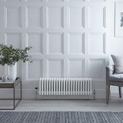 Radiateur Horizontal Style Fonte Blanc Windsor 30cm x 101cm x 13,3cm 1060 Watts