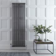 Radiateur Vertical Style Fonte Acier Brut Windsor 180cm x 56,3cm x 10cm 2338 Watts
