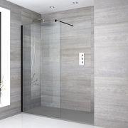 Douche italienne avec receveur de douche à effet texturé – Multiples tailles disponibles – Nox