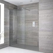 Douche italienne avec receveur de douche à effet texturé – Multiples tailles disponibles - Portland