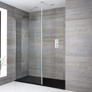 Douche italienne avec receveur de douche à effet texturé - Choix de tailles - Sera