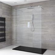 Douche italienne avec receveur de douche à effet texturé – Multiples tailles disponibles – Portland