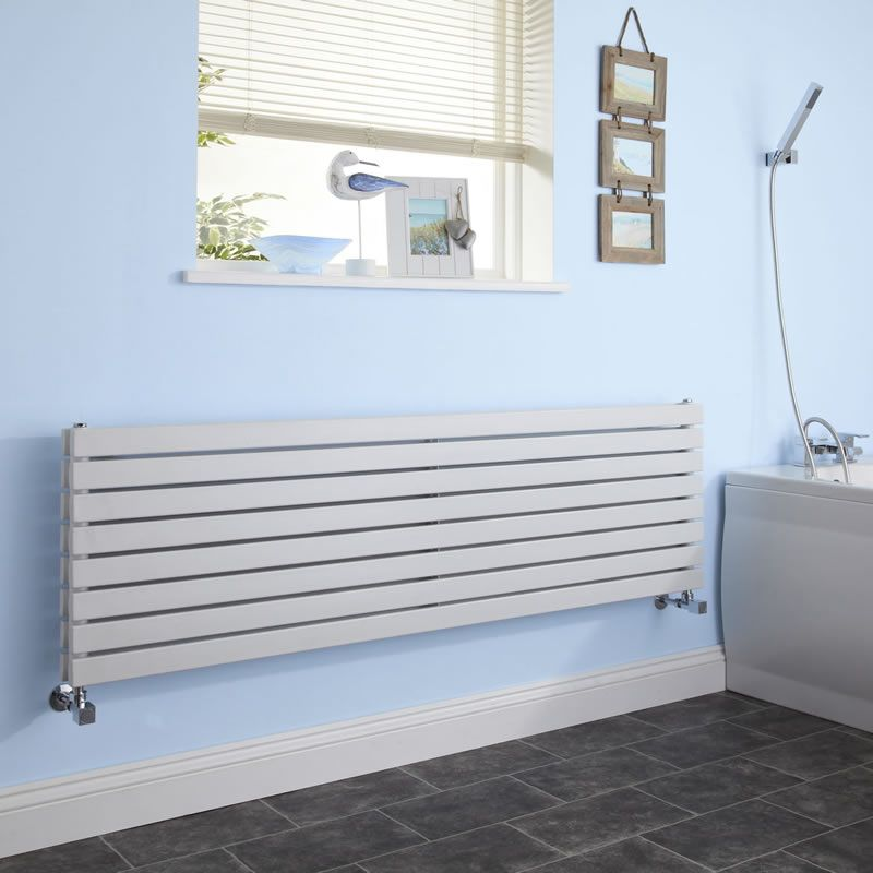 radiateur design horizontal blanc sloane 47 2cm x 178cm x. Black Bedroom Furniture Sets. Home Design Ideas