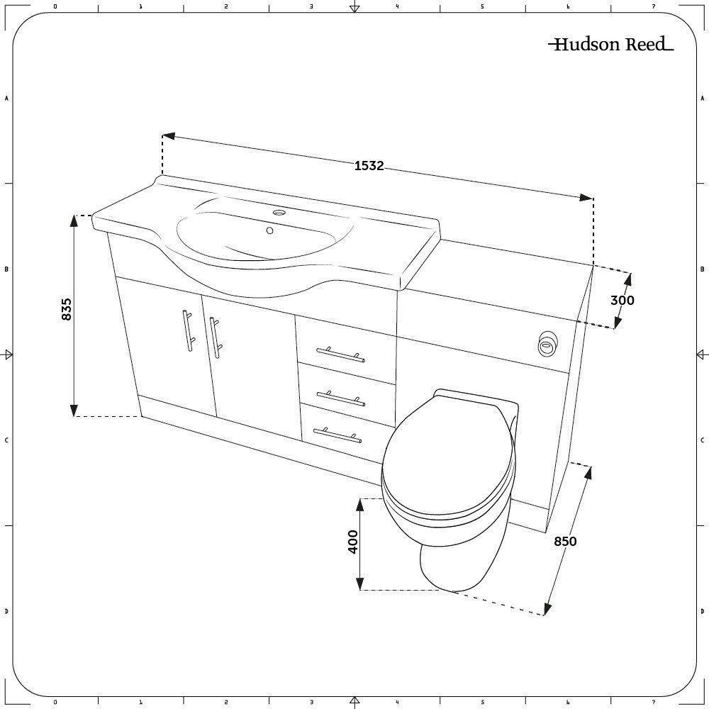 Meuble Lavabo Toilette Wc 106x78x48cm Classic Oak