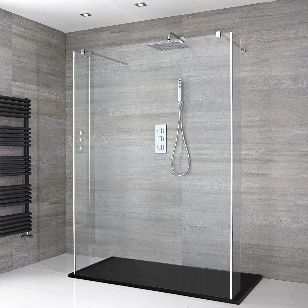 Douche italienne en lot avec receveur de douche effet - Kit receveur douche italienne ...