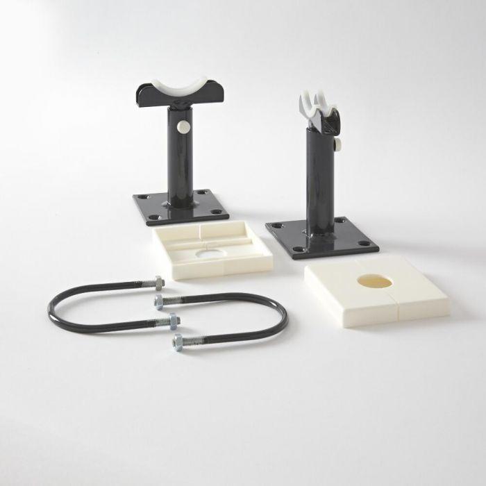 Pieds de radiateur pour radiateur style fonte – Anthracite – Stelrad Regal par Hudson Reed