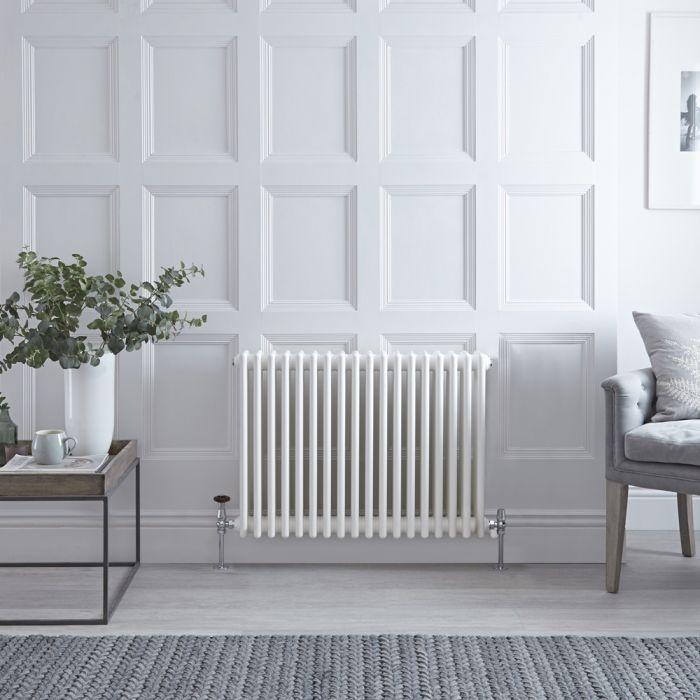 Radiateur style fonte horizontal – Blanc – 50 cm x 85,8 cm – Triple rangs – Stelrad Regal par Hudson Reed