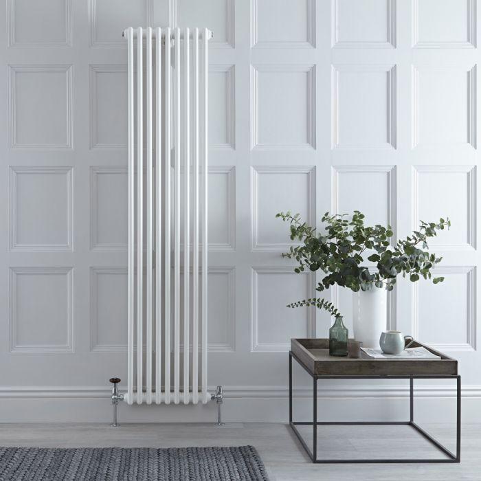Radiateur style fonte vertical – Blanc – 180 cm x 44,4 cm – Double rangs – Stelrad Regal par Hudson Reed