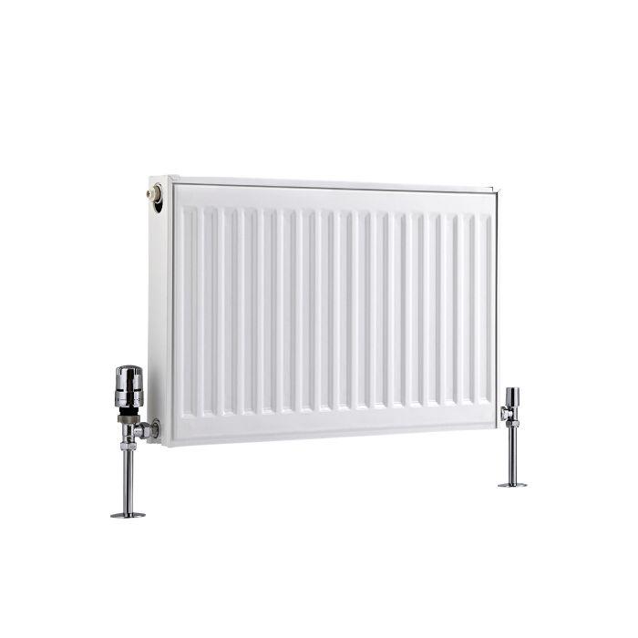 Radiateur À Panneaux Type 21 Horizontal Blanc Eco 40cm x 60cm x 7,3cm 573 Watts