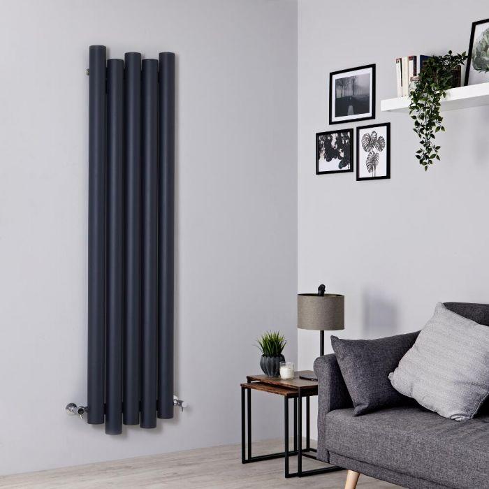 Radiateur aluminium design vertical – Anthracite – 160 cm x 39 cm - Laeto