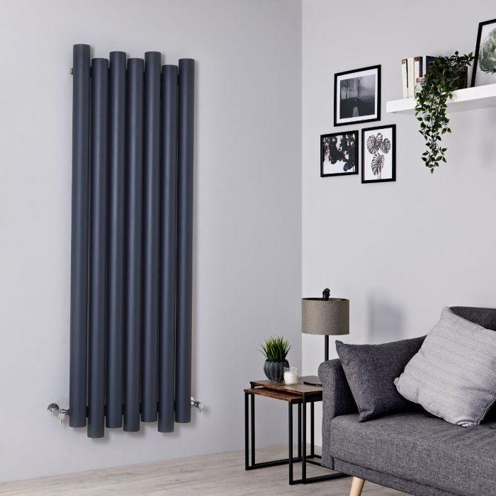 Radiateur aluminium design vertical – Anthracite – 160 cm x 55 cm - Laeto