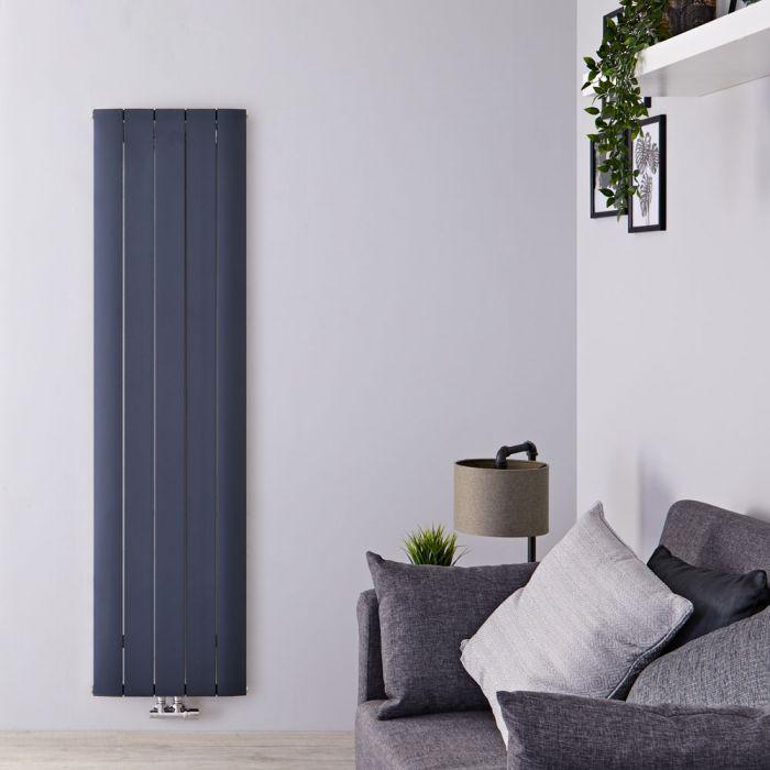 Radiateur Design Vertical Raccordement Central Aluminium Anthracite Aurora 180cm x 47cm x 4,6cm 1729 Watts
