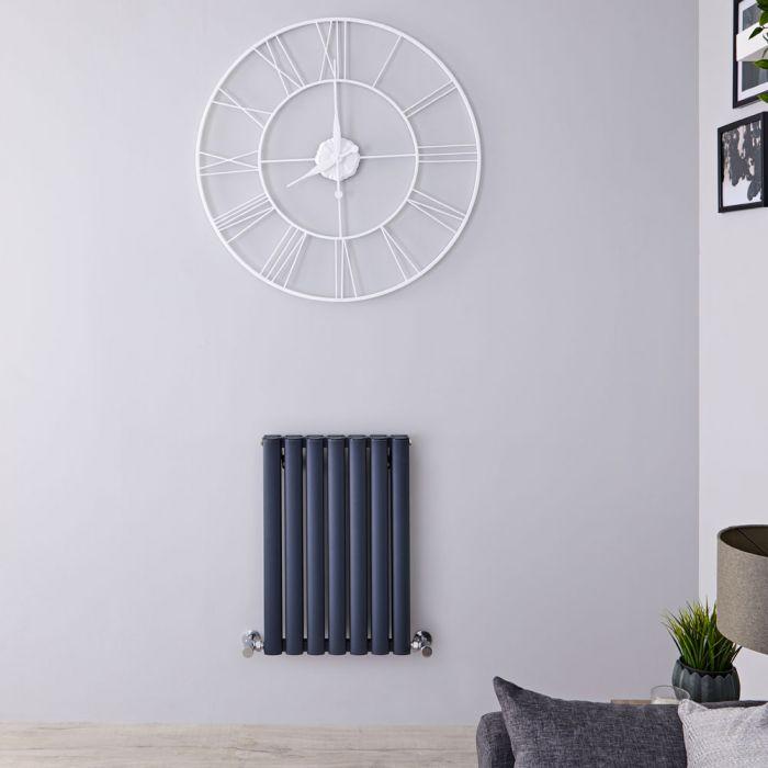 Radiateur design horizontal en aluminium – Anthracite – 60 cm x 41 cm – Vitality Air