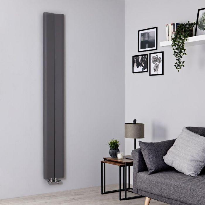Radiateur aluminium design vertical – Gris clair – 180 cm x 24,5 cm - Aloa