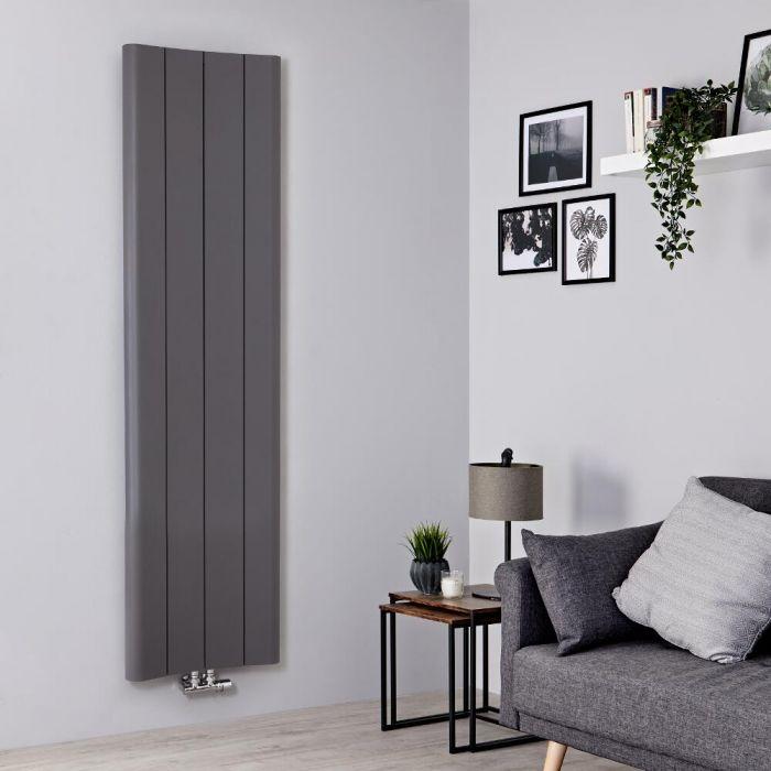 Radiateur aluminium design vertical – Gris clair – 180 cm x 49,5 cm - Aloa