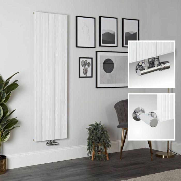 Radiateur design vertical en aluminium – 160 cm x 47 cm – Blanc - Lex