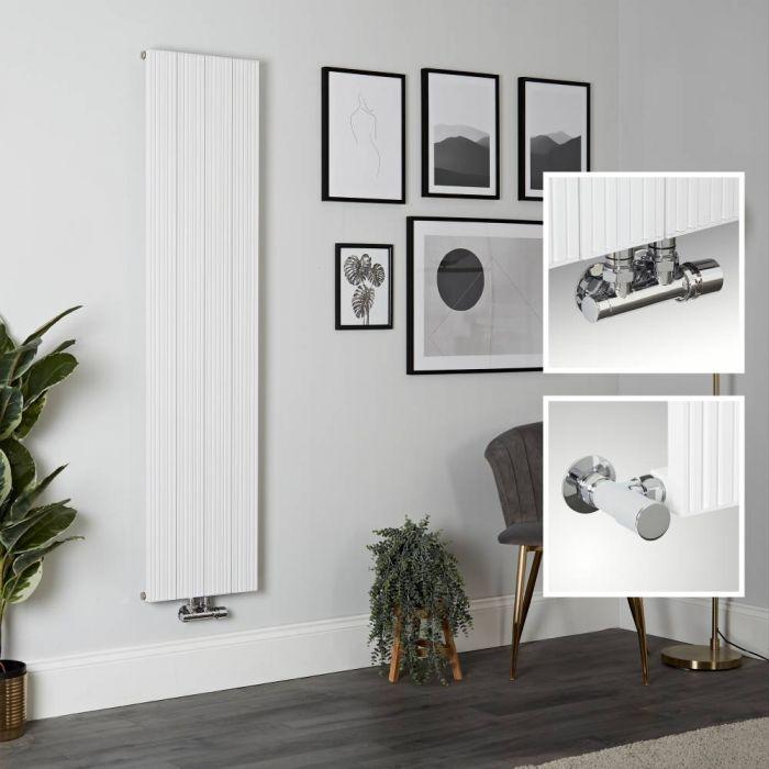 Radiateur design vertical en aluminium – 160 cm x 37,5 cm – Blanc - Lex