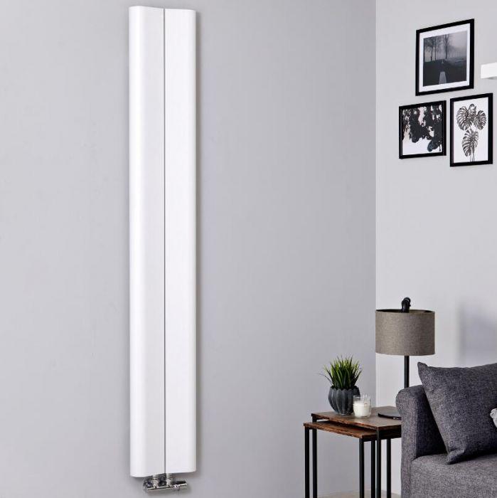 Radiateur aluminium design vertical – Blanc – 160 cm x 24,5 cm - Aloa