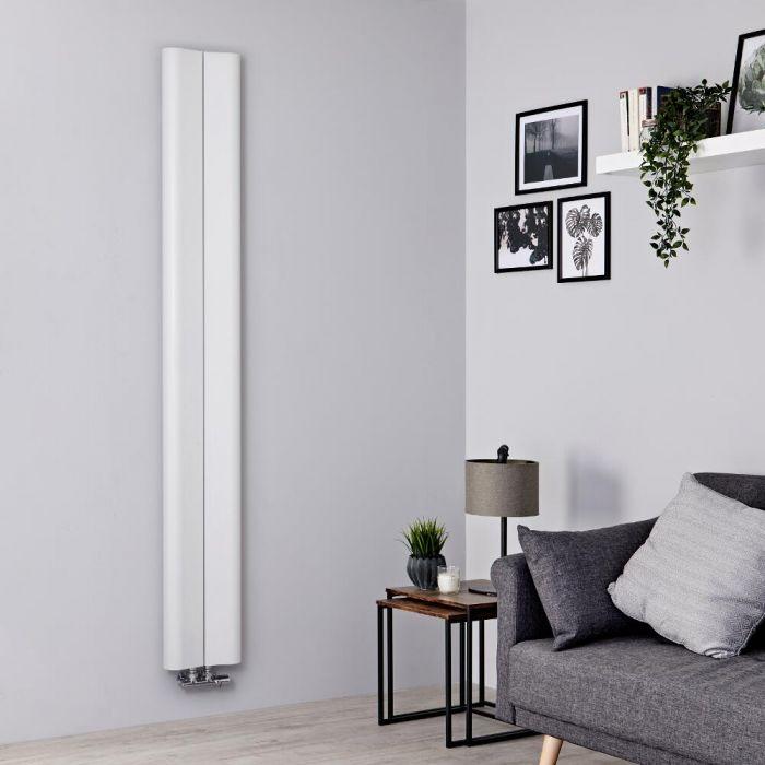 Radiateur aluminium design vertical – Blanc – 180 cm x 24,5 cm - Aloa