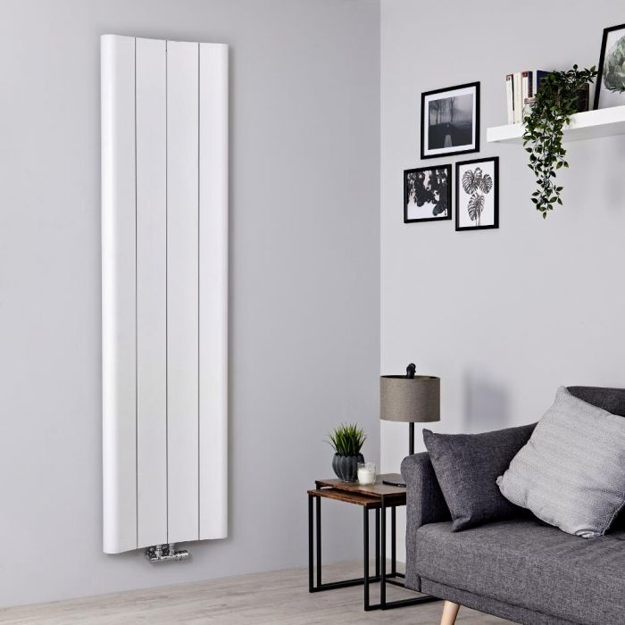 Radiateur aluminium design vertical – Blanc – 180 cm x 49,5 cm - Aloa