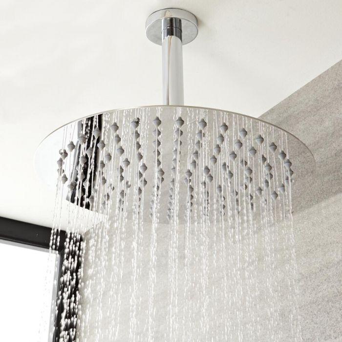 Bras pour Pomme de douche 20 cm à fixer au plafond