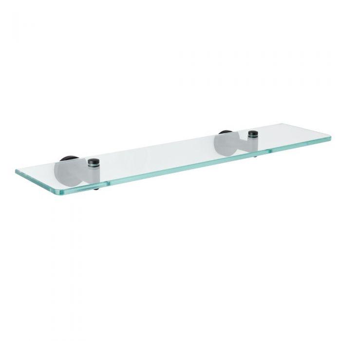 Étagère en verre moderne – Noir mat - Nox