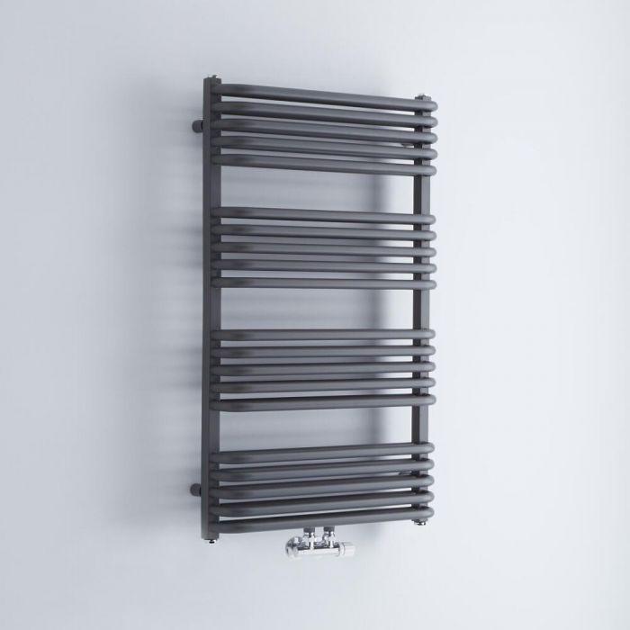 Sèche-serviettes eau chaude - Anthracite - 100 x 60 cm - Arch