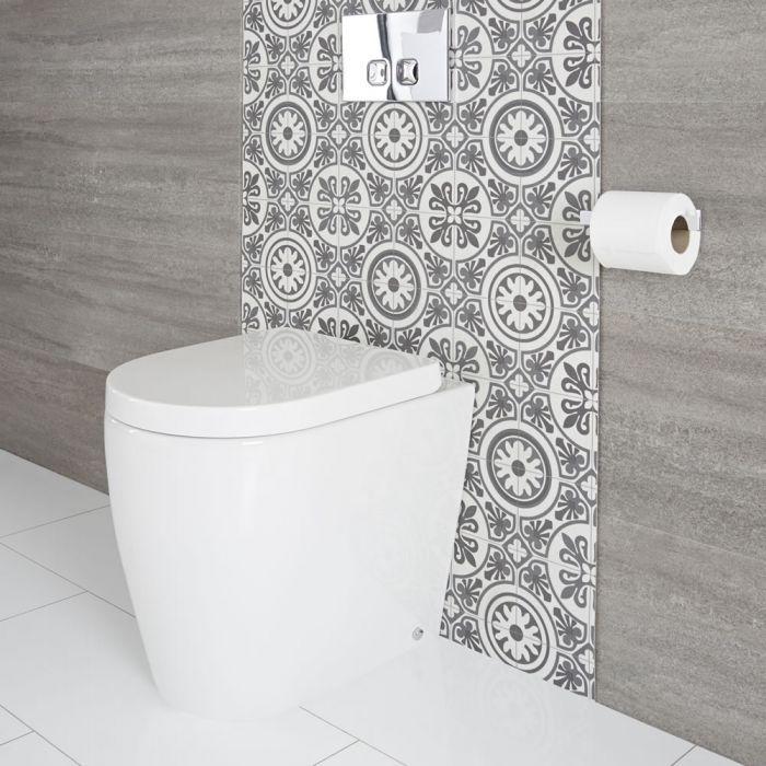 Cuvette WC moderne à poser avec abattant à fermeture douce – Otterton