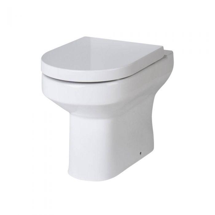 WC à poser moderne avec abattant à fermeture douce - Covelly