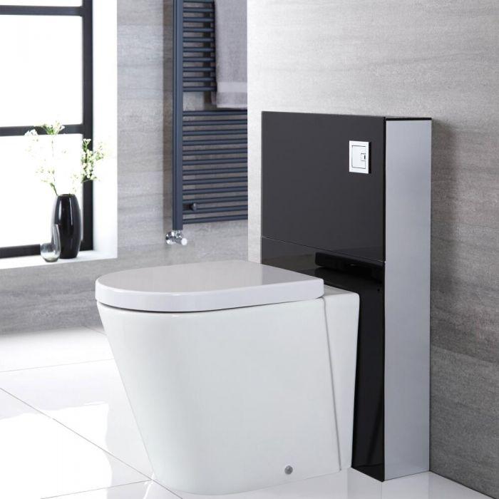 WC Alswear à poser avec meuble – 50 cm – Noir – Saru