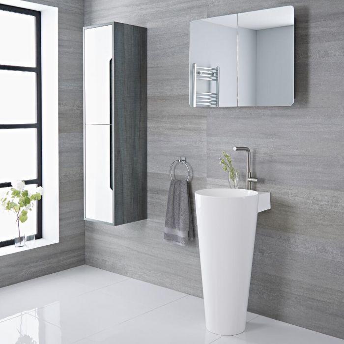 Lavabo totem moderne – Blanc – 85 cm x 50 cm – Covelly