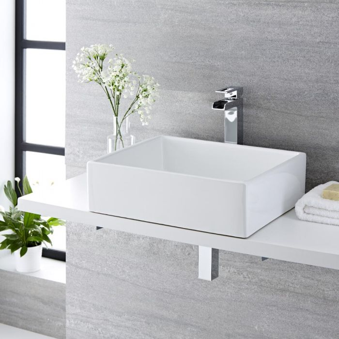 Vasque à poser rectangulaire - 49 x 39 cm - Haldon