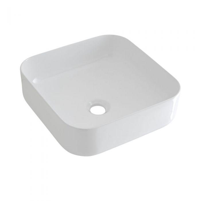Vasque à poser carrée – 40 cm x 40 cm – Milton & Mitigeur haut - Parade