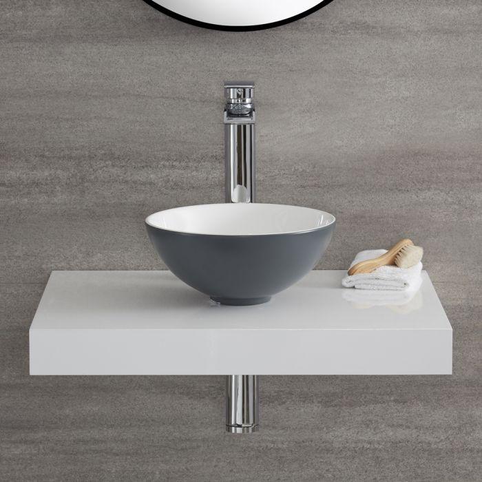 Vasque à poser ronde - Gris pierre - Ø28 cm – Witton