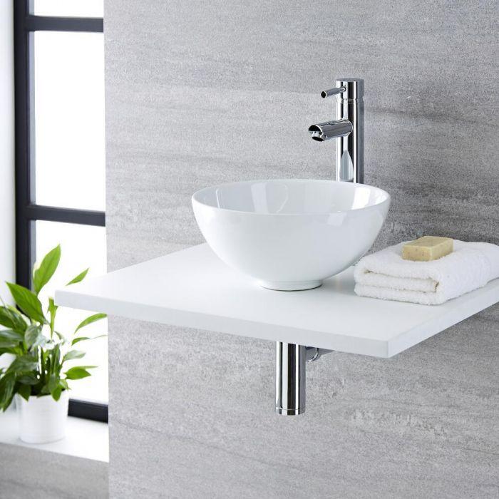 Vasque  à poser ronde - Ø 32cm - Ashbury & Mitigeur haut - Como