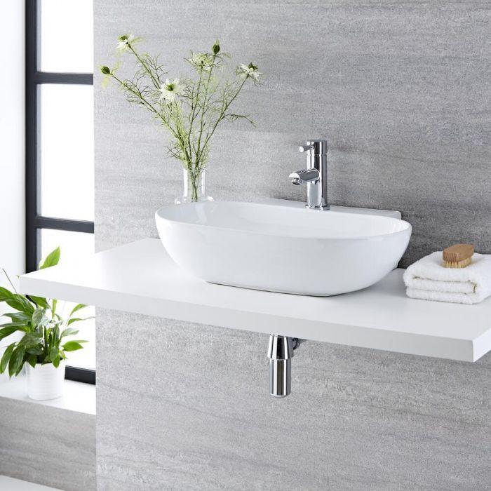Vasque à poser ovale -  55,5 x 39,5 cm - Otterton & Mitigeur - Como