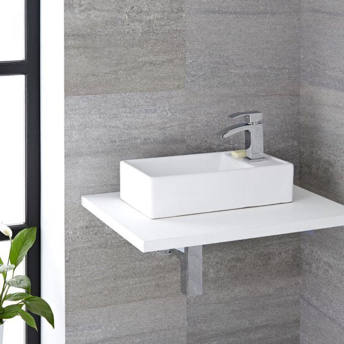 Vasque à poser rectangulaire - 40 x 22 cm - Halwell