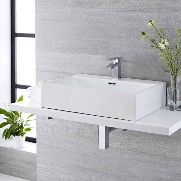 Vasque à poser rectangulaire - 60 x 42 cm - Sandford